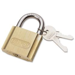 Cheap Stationery Supply of Draper Brass Cylinder Padlock Brass Body and Cylinder Plated Steel Shackle 2 Keys 50mm 60193 Office Statationery