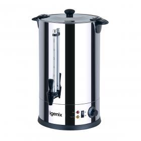 Igenix Catering Urn Locking Lid Water Gauge 1600W 18 Litre Stainless Steel Ref IG4018