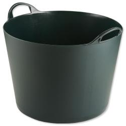 Cheap Stationery Supply of Strata Tuff Tub Plastic with Handles Base Diameter 470 mm Height 400 mm 2.2kg 75 Litre Capacity (British Racing Green) - Single GN186 Office Statationery