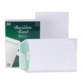 Basildon Bond Envelopes FSC Pocket Recycled Peel & Seal 120gsm C5 229x162mm White Ref B80277 Pack of 50