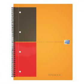 Oxford Int Active Book Poly Wbnd 80gsm Smart Ruled Perf Punched 10 Holes 160pp A5+ Ref 100104067 Pack of 5