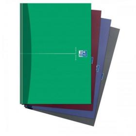 Oxford Office Nbk Casebound Hard Cover 90gsm Smart Ruled 192pp A4 Assorted Colour Ref 100105005 Pack of 5