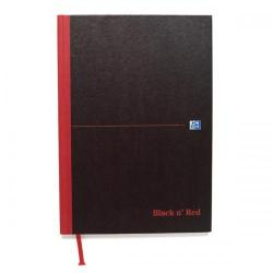Cheap Stationery Supply of Black n Red Notebook Casebound 90gsm Ruled Recycled 192pp A5 100080430 Pack of 5 Office Statationery