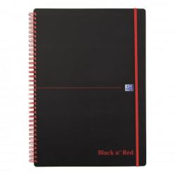 Cheap Stationery Supply of Black n Red Notebook Wirebound PP 90gsm Ruled Recycled and Perforated 140pp A4 100080167 Pack of 5 Office Statationery