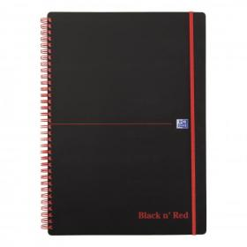 Black n Red Notebook Wirebound PP 90gsm Ruled Recycled and Perforated 140pp A4 Ref 100080167 Pack of 5