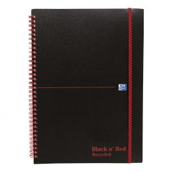 Cheap Stationery Supply of Black n Red Notebook Wirebound PP 90gsm Ruled Recycled and Perforated 140pp A5 100080221 Pack of 5 Office Statationery