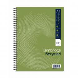 Cheap Stationery Supply of Cambridge Recycled Nbk Wirebnd 70gsm Ruled Margin Perf Punched 4 Holes 200pp A4+ 100080423 Pack of 3 Office Statationery