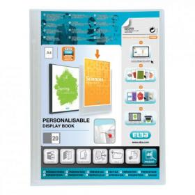 Oxford Polyvision Display Book Polypropylene 20 Pockets A4 Clear Ref 100206088
