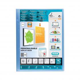 Oxford Polyvision Display Book Polypropylene 40 Pockets A4 Blue Ref 100206231