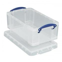 Cheap Stationery Supply of Really Useful Storage Box Plastic Lightweight Robust Stackable 9 Litre W255xD395xH155mm Clear 9C Office Statationery