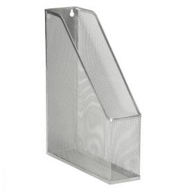 5 Star Office Mesh Magazine Rack Scratch Resistant with Non Marking Rubber Pads A4 Plus Silver