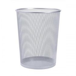 Cheap Stationery Supply of 5 Star Office Mesh Waste Bin Lightweight Sturdy Scratch Resistant 15-20 Litres 275x350mm Silver Office Statationery