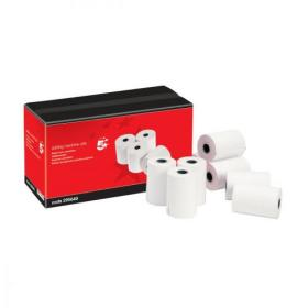 5 Star Office Adding Machine Paper Rolls 1Ply 55gsm TMP W57xD57x12.7mm 24m Pack of 20