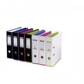 Oxford MyColour Lever Arch File Polypropylene Capacity 80mm A4+ Black & White Ref 100081033