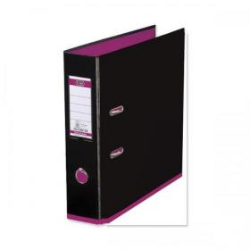 Oxford MyColour Lever Arch File Polypropylene Capacity 80mm A4+ Black & Pink Ref 100081035