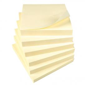 5 Star Office Re-Move Notes Repositionable Pad of 100 Sheets 76x76mm Yellow Pack of 12