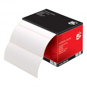5 Star Office Address Labels 89x36mm on Continuous Roll 250 Labels