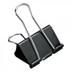 5 Star Office Foldback Clips 19mm Black Pack of 12
