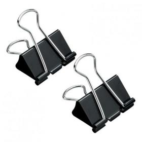 5 Star Office Foldback Clips 32mm Black Pack of 12