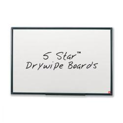 Cheap Stationery Supply of 5 Star Office Drywipe Non-Magnetic Board with Fixing Kit and Detachable Pen Tray W900xH600mm Office Statationery