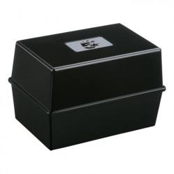 Cheap Stationery Supply of 5 Star Office Card Index Box Capacity 250 Cards 6x4in 152x102mm Black Office Statationery