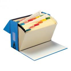 Cheap Stationery Supply of 5 Star Office Expanding Box File 19 Pockets A-Z Foolscap Blue Office Statationery