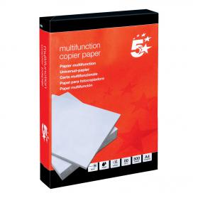 5 Star Office Copier Paper Multifunctional Ream-Wrapped 80gsm A4 White 5 x 500 Sheets