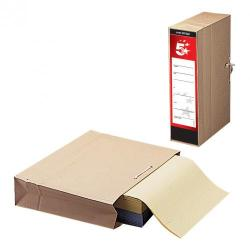 Cheap Stationery Supply of 5 Star Office FSC Storage Bag with Dust Flap Foolscap 102mm Capacity 356x248mm Pack of 25 Office Statationery