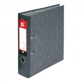 5 Star Office Lever Arch File 70mm Foolscap Cloudy Grey Pack of 10