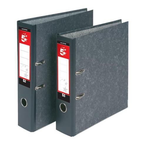 Pack of 10 Concord Classic Lever Arch File with 5-Part Dividers 70mm Spine Foolscap Black Ref C216056