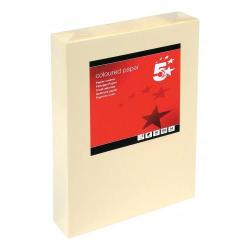 Cheap Stationery Supply of 5 Star Office Coloured Copier Paper Multifunctional Ream-Wrapped 80gsm A4 Light Cream 500 Sheets Office Statationery