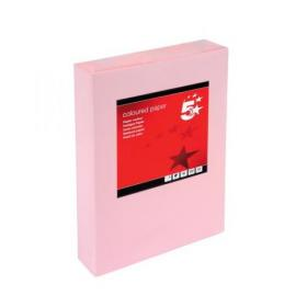 5 Star Office Coloured Copier Paper Multifunctional Ream-Wrapped 80gsm A4 Light Pink 500 Sheets