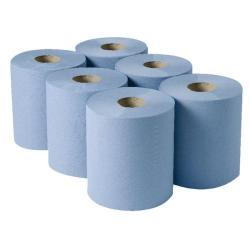 Cheap Stationery Supply of 2Work 3-Ply Centrefeed Roll 135m Blue (Pack of 6) 2W00083 Office Statationery