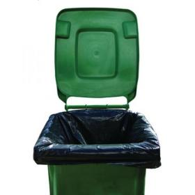 2Work Medium Duty Wheelie Bin Liner Black (Pack of 100) 2W01167