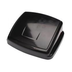 Cheap Stationery Supply of 2Work Swing Bin Lid 30 Litre Plastic Black 2W02394 Office Statationery