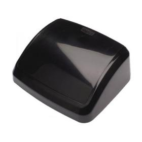 2Work Swing Bin Lid 10 Litre Plastic Black 2W02396