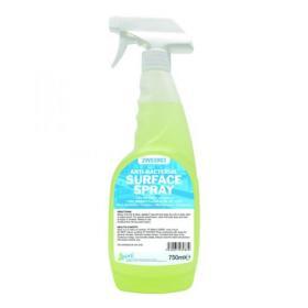 2Work Antibacterial Sanitising Surface Spray 750ml Ready-to-Use 242
