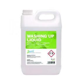 2Work Gentle Washing Up Liquid Fresh Scent 5 Litre Bulk Bottle 432