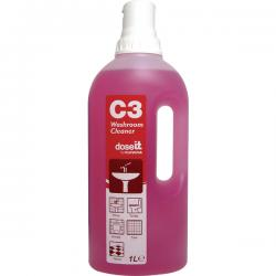 Cheap Stationery Supply of Dose It C3 Washroom Cleaner 1 Litre (Pack of 8) 2W06305 Office Statationery