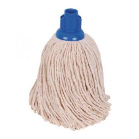 2Work PY Smooth Socket Mop 14oz Blue (Pack of 10) 103178B