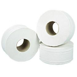 Cheap Stationery Supply of 2Work 2-Ply Mini Jumbo Toilet Roll White (Pack of 12) J27200VW Office Statationery