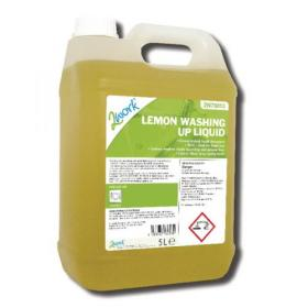 2Work Washing Up Liquid Lemon Scent 5 Litre Bulk Bottle 401