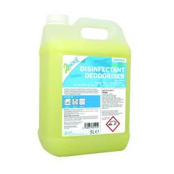 Cheap Stationery Supply of 2Work Bactericidal Disinfectant Deodoriser Lemon Scent 5 Litre202 Office Statationery