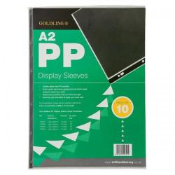 Cheap Stationery Supply of (A2) Display Sleeves Polypropylene Reinforced 150 Micron 6 Hole (Clear) Pack of 10 PDSA2Z Office Statationery