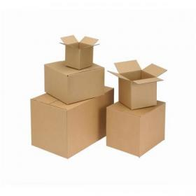 Packing Carton Double Wall Strong Flat Packed Brown 305x305x305mm Pack of 15