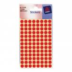 Avery Packets of Labels Round Diam.8mm Red Ref 32-301 [10x560 Labels]