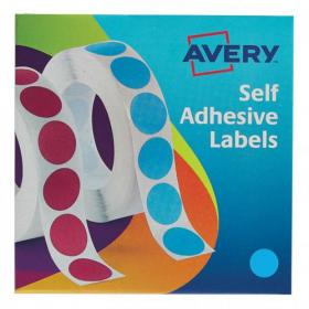 Avery Labels in Dispenser on Roll Round Diam.19mm Blue Ref 24-509 1120 Labels