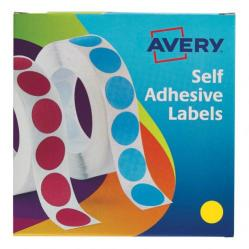 Cheap Stationery Supply of Avery Labels in Dispenser on Roll Round Diam.19mm Yellow 24-508 1120 Labels Office Statationery
