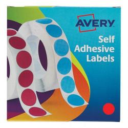 Cheap Stationery Supply of Avery Labels in Dispenser on Roll Round Diam.19mm Red 24-506 1120 Labels Office Statationery