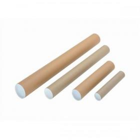Postal Tube Cardboard with Plastic End Caps A4-A3 L330xDia.50mm RBL10518 Pack of 25